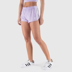 WOMEN'S ORIGINALS 3-STRIPES SHORTS (PURPLE GLOW)
